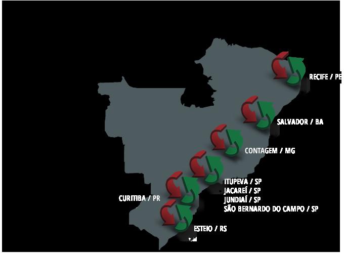 Mapa de Atuação da Prodelog